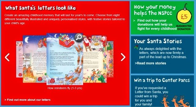 Letter from Santa from NSPCC - lovefrommim.com