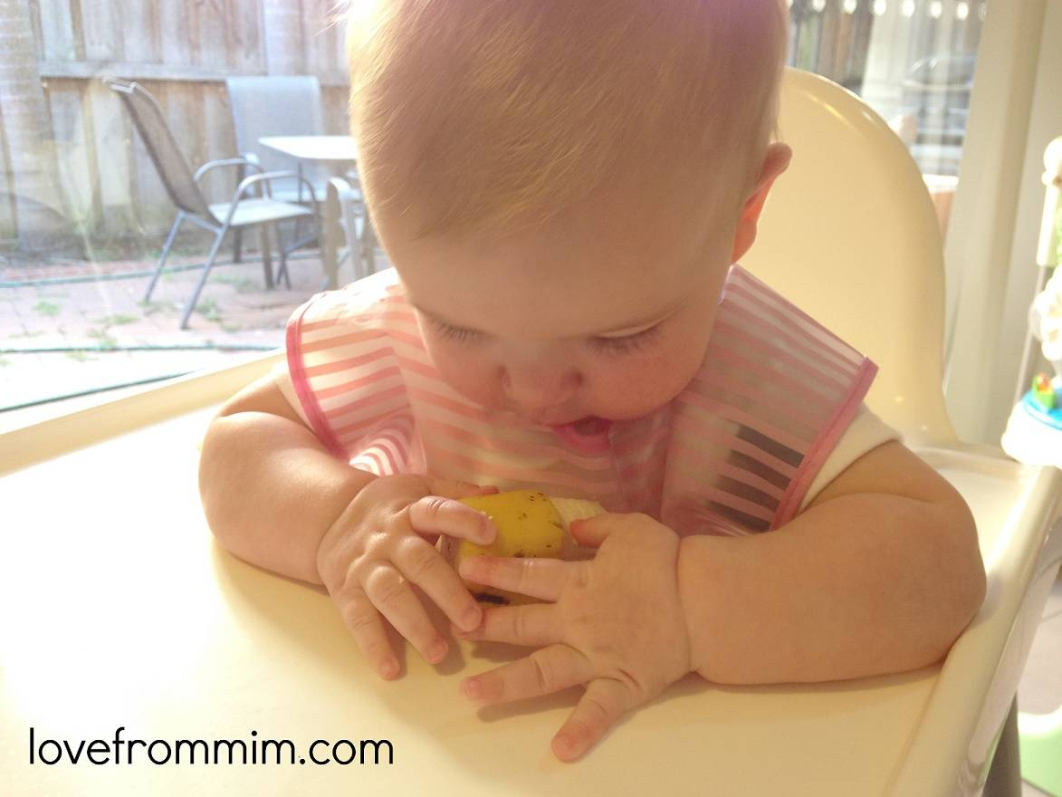 Our experience of Baby Led Weaning First Foods - lovefrommim.com Baby Led Weaning by Gill Rapley Finger Foods Starting Solid Food with your Baby Baby's First Foods How to start solids with your baby