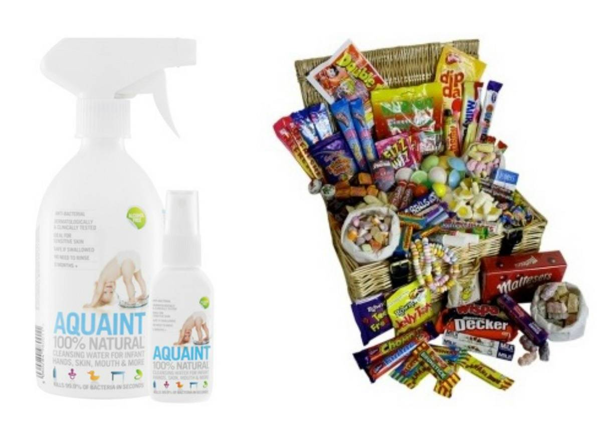 Retro Sweets & Chocolate Hamper Giveaway - lovefrommim.com Aquaint Sanitising Water