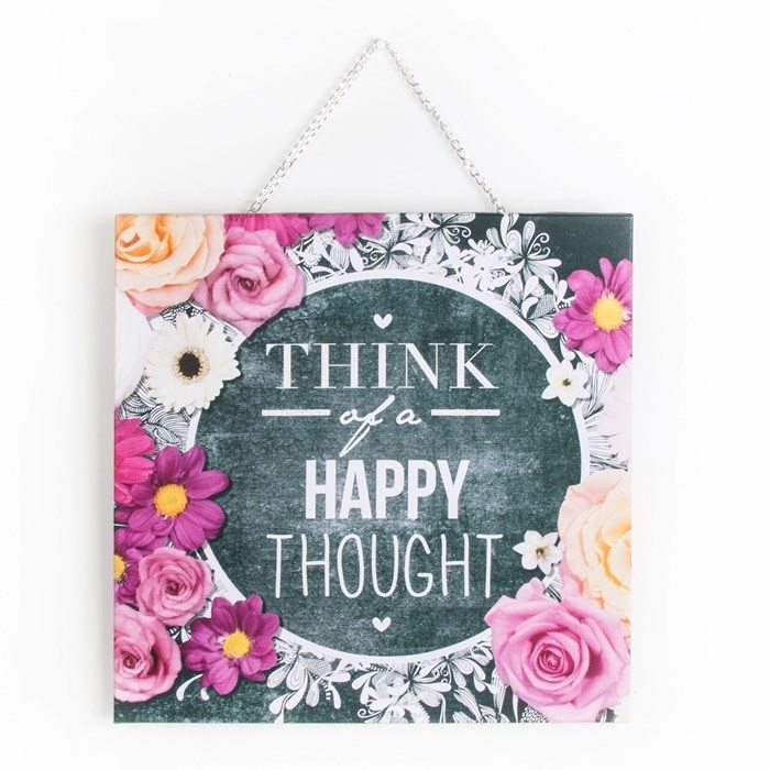 Graham & Brown Wall Art Review - www.lovefrommim.com Home Decor Wall Art Graham and Brown Wall Art Graham and Brown Happy Thoughts Canvas