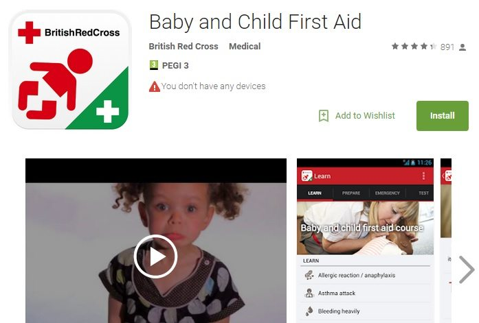 British Red Cross - Baby and Child First-Aid App Review - www.mamamim.com