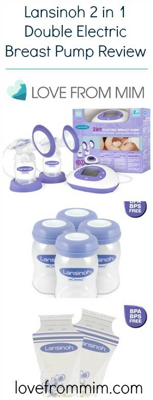 Lansinoh 2 in 1 Double Electric Breast Pump Review - www.lovefrommim.com Lansinoh Bottle Lansinoh Breast Pump