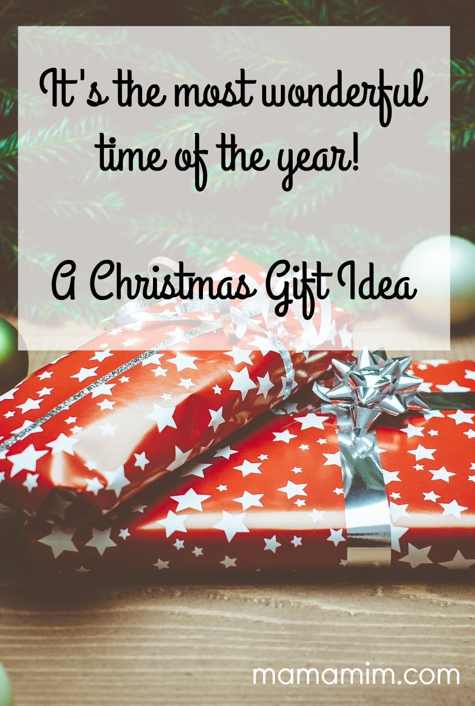 It's the most wonderful time of the year! A Christmas Gift idea - www.mamamim.com