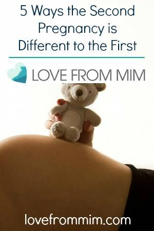 5 Ways the Second Pregnancy is Different to the First - lovefrommim.com Pregnancy Second Baby Second Child Differences in Pregnancies Pregnant