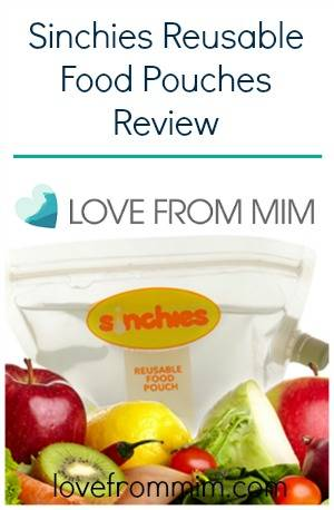Sinchies Reusable Food Pouches Review - lovefrommim.com Reusable Baby Food Bags