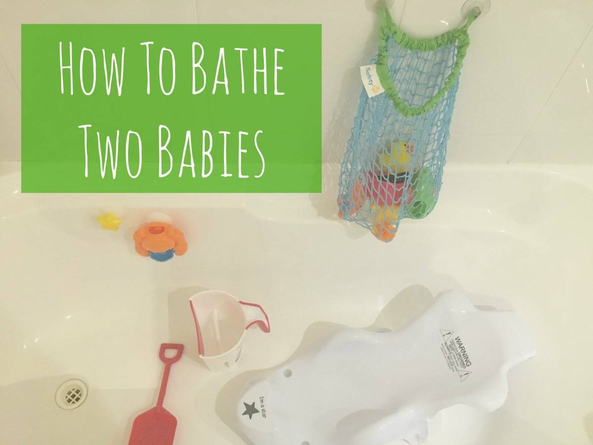 How to bathe two Babies - lovefrommim.com How to Bath Two Babies Bathing Two Babies Baby Bathtime