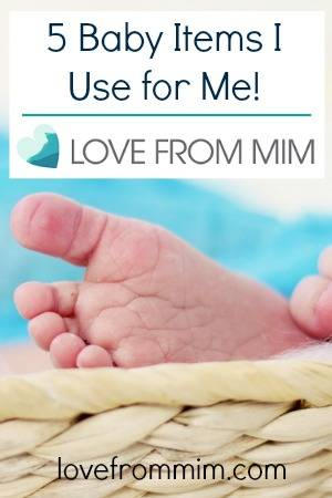 5 Baby items I use for Me by Natalie Brown - lovefrommim.com Alternative uses for baby products
