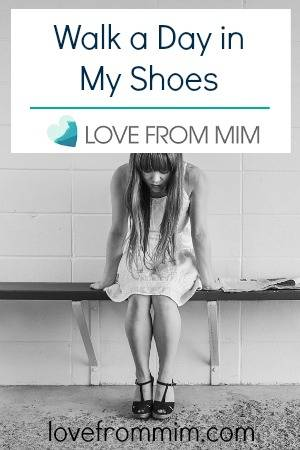 Walk a day in my shoes - lovefrommim.com - My Triple Negative Breast Cancer Journey Judging others walk a day in someone else's shoes
