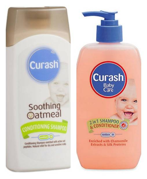 Curash Soothing Oatmeal Shampoo and Curash 2 in 1 Shampoo & Conditioner Review - lovefrommim.com Baby Shampoo Baby Conditioner Baby Hair Care Gentle Shampoo