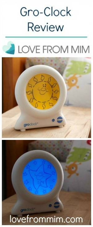 The Gro Company Gro-Clock Review - lovefrommim.com Baby Sleep Problems Toddler Sleep Problems Toddler Sleep Issues How to get your baby to sleep through the night Toddler waking too early How to stop toddler waking early Groclock