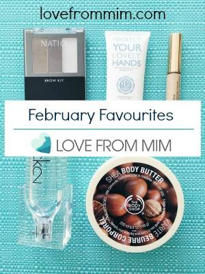 February Favourites 2016 - www.lovefrommim.com Beauty Products Beauty Favourites Natio Brow Kit Yes! Nurse Hand Cream Estee Lauder Double Wear Concealer Calvin Klein CK2 Eau de Toilette The Body Shop Shea Body Butter