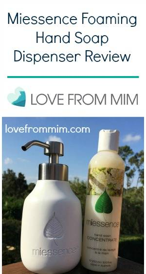 Miessence Foaming Hand Soap Dispenser Review - www.lovefrommim.com Hand Wash