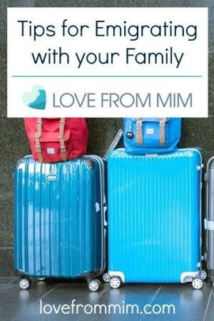 Tips for Emigrating with your family - www.lovefrommim.com Emigrating from Australia to the UK World Baggage Luggage Emigrating with your Family