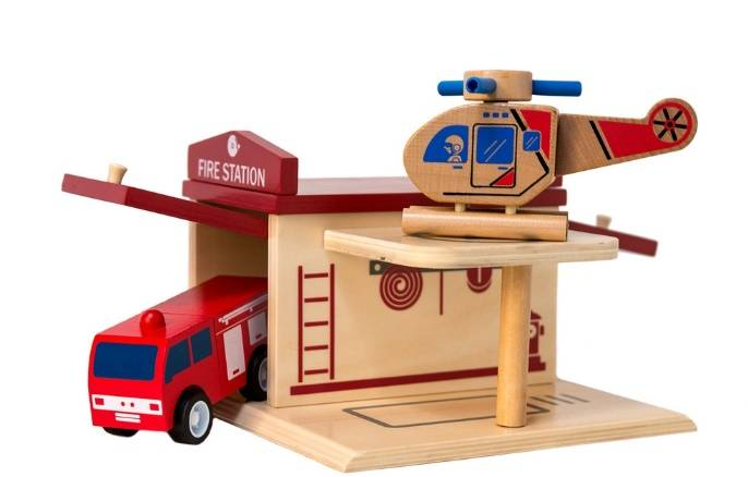 Our kids love Click Clack Toys! lovefrommim.com Kid's Wooden Toys Children's Wooden Toys Click Clack Toys Starter Pack Click Clack Toys Fire Station and Fire Engine Helicopter