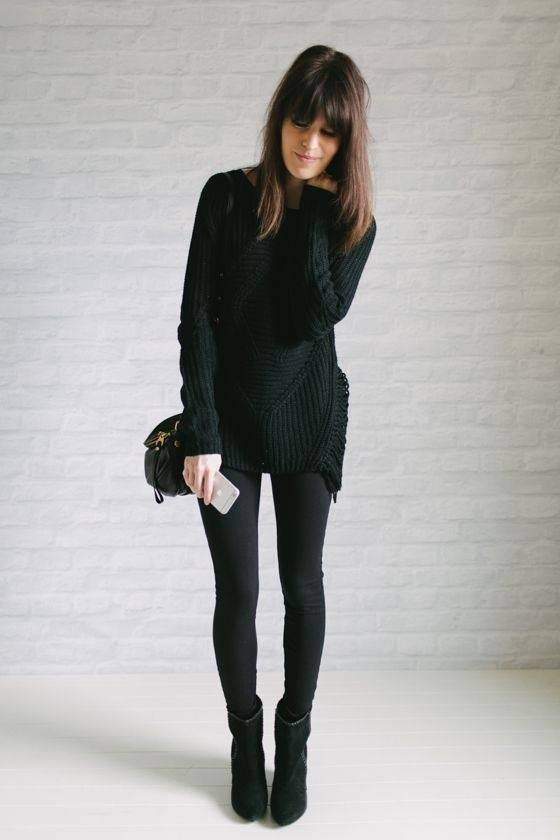 Updating my Winter Wardrobe with Rockmans - lovefrommim.com Chunky Knit Black Jumper Black Leggings Black Ankle Boots Autumn Outfit Idea Winter Outfit Idea