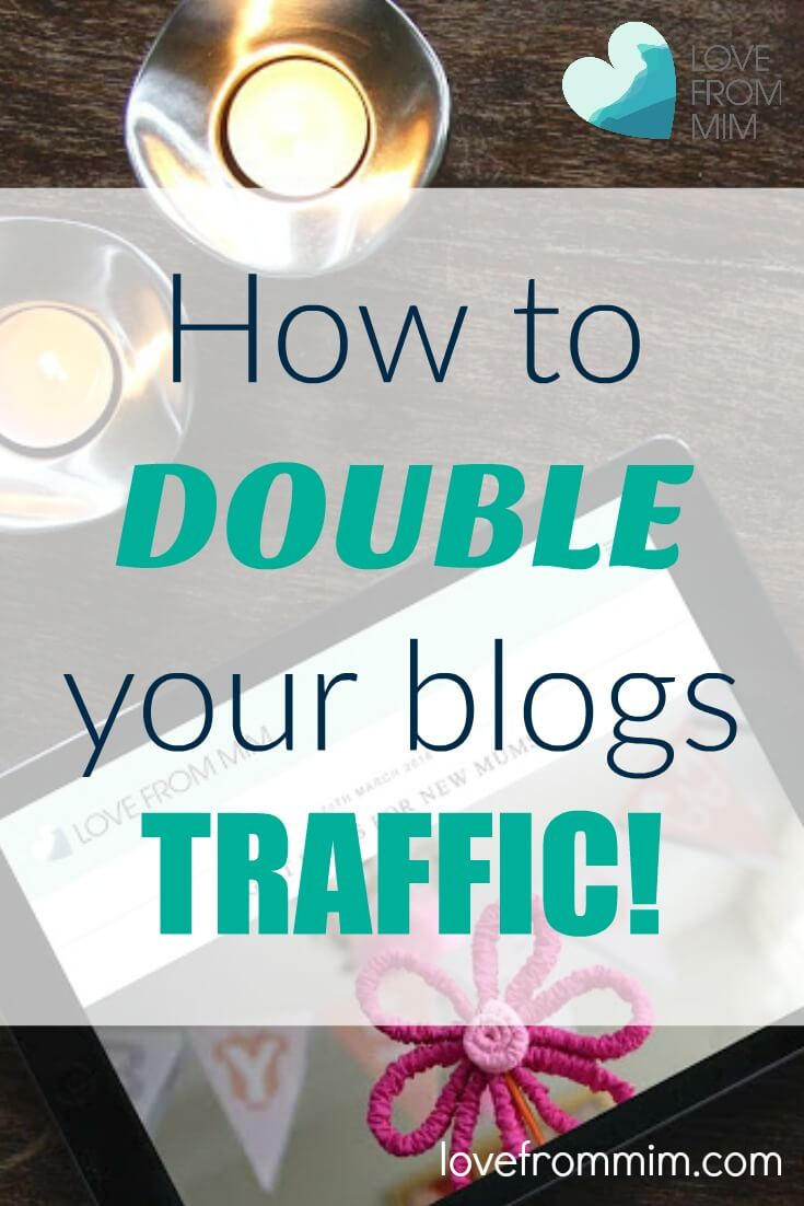 How to Double your Blogs Traffic. Find out how to get more traffic to your blog and attract more readers.