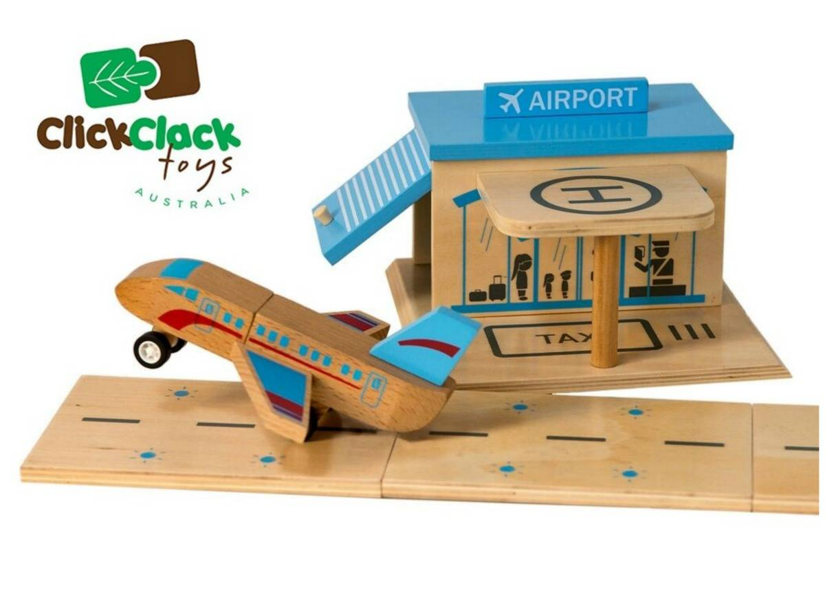 Win a Click Clack Toys Airport Starter Kit! lovefrommim.com Click Clack Toys Eco-Friendly Toys Wooden Toys Australian Made Toys