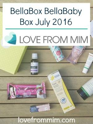 BellaBox BellaBaby Box July 2016 - Unboxing + Video! lovefrommim.com Bella Box Bella Baby Box Unboxing Products for Mums Products for Babies Baby Products New Mum Products Monthly Subscription Box