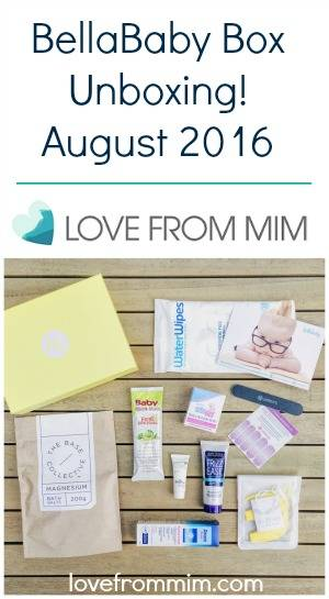 BellaBox BellaBaby Box August 2016 - Unboxing Video! lovefrommim.com Bella Box Bella Baby Box Unboxing Products for Mums Products for Babies Baby Products New Mum Products Monthly Subscription Box