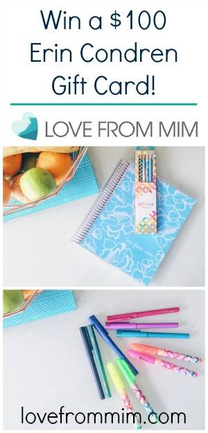 Win a $100 Erin Condren Gift Card! lovefrommim.com Erin Condren Vertical LifePlanner Plan With Me Life Planning Planner Addict Erin Condren Happy Mail