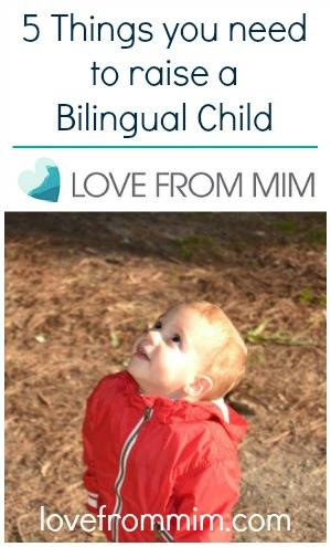 5 Things you need to raise a bilingual child - lovefrommim.com Bilingual Kidspot How to raise a bilingual child