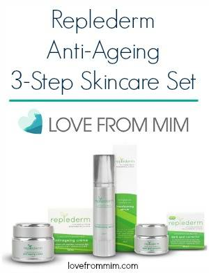 Win a Replederm Skin Care Set worth $219! lovefrommim.com Epic Christmas Gift Giveaway Anti-Ageing Skin Care Set How to reduce fine lines Best anti-ageing products Best anti-ageing skincare Replederm Anti-Ageing Skincare Replederm 3-Step Skin Care Set