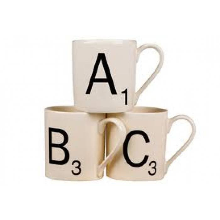 Christmas Gift Ideas for Dads + win a $150 Gift Card! lovefrommim.com Love from Mim Yellow Octopus Scrabble Initial Mug