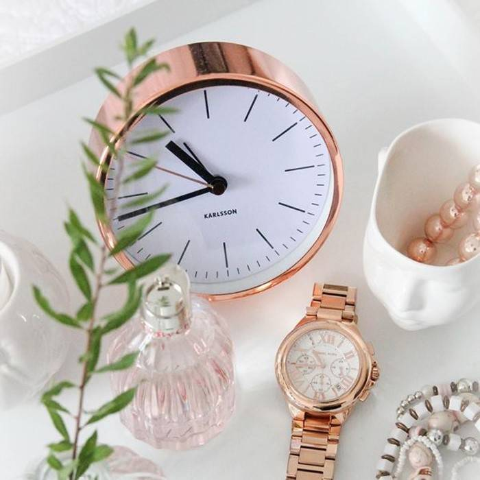 Christmas Gift Ideas for Dads + win a $150 Gift Card! lovefrommim.com Love from Mim Yellow Karlsson Tabletop Copper Alarm Clock