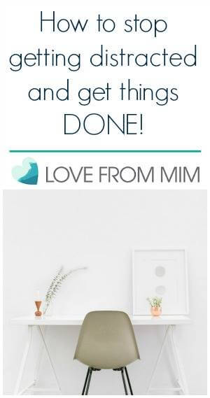 How to stop getting distracted and get things done! lovefrommim.com Love from Mim How to be more productive productivity tips How to beat distractions how to stop procrastinating how to get stuff done tips to avoid getting distracted How to turn off iPhone notifications