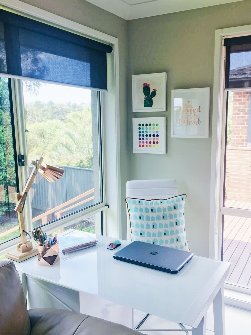 Home Office with tidy desk