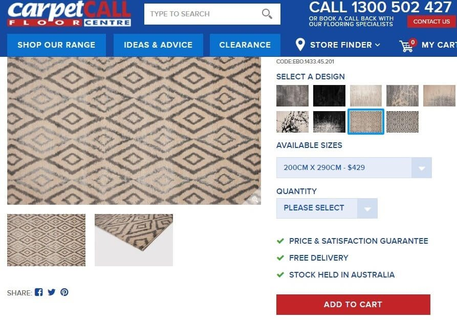 How to order the Carpet Call Ebony Rug online