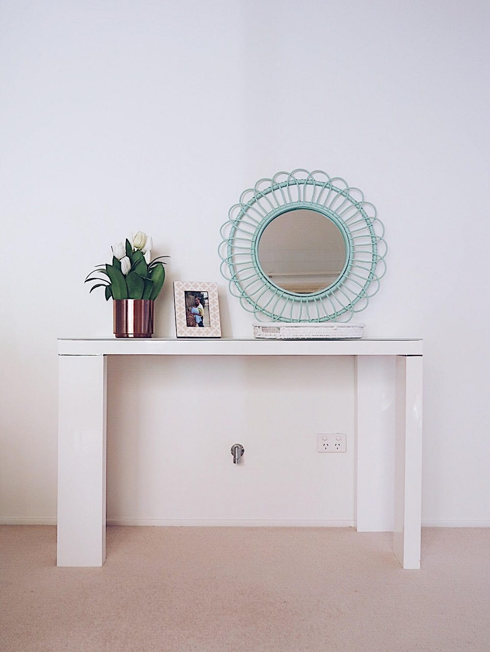White console table from Harvey Norman bought off Gumtree