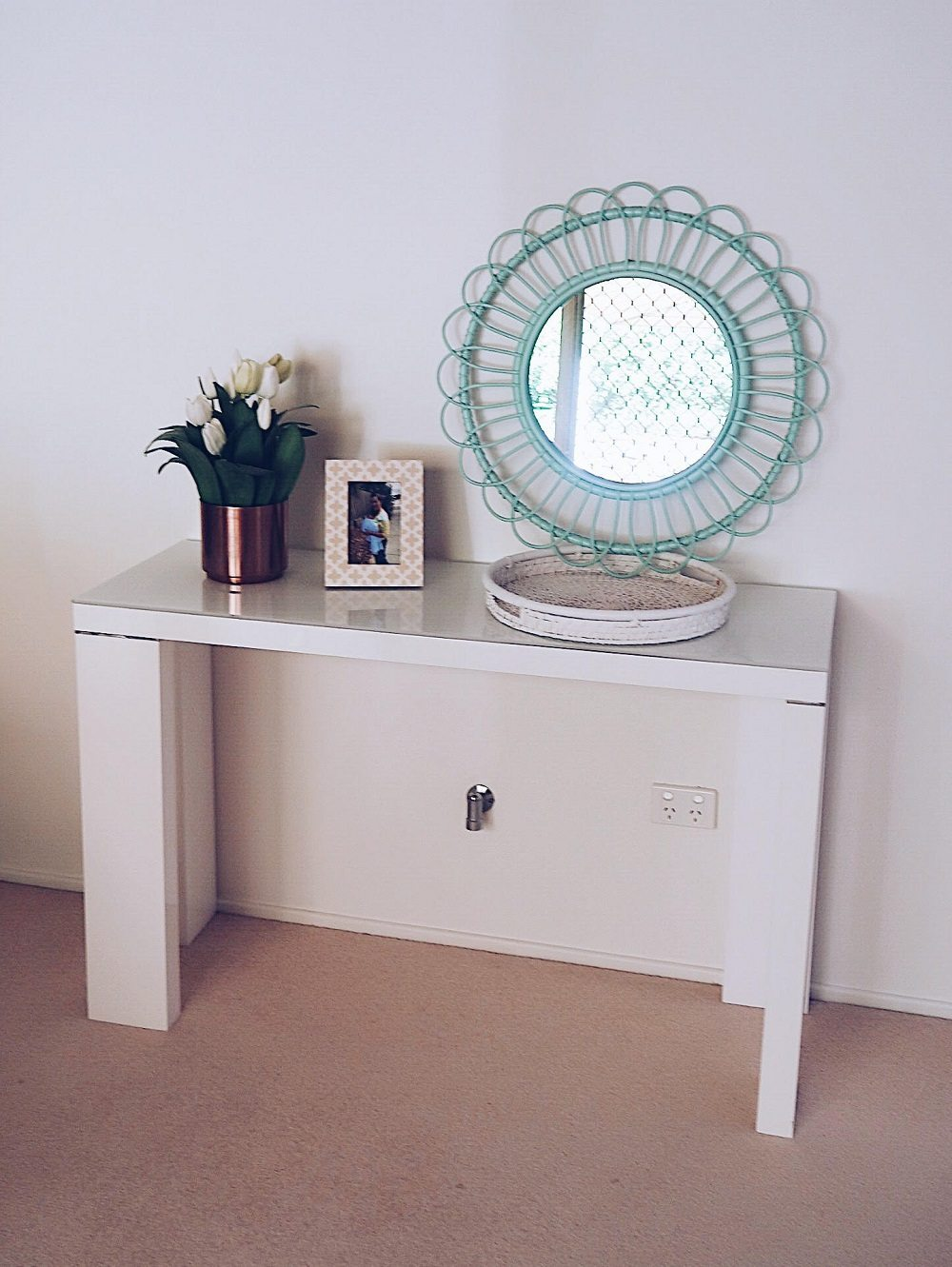 White buffet table