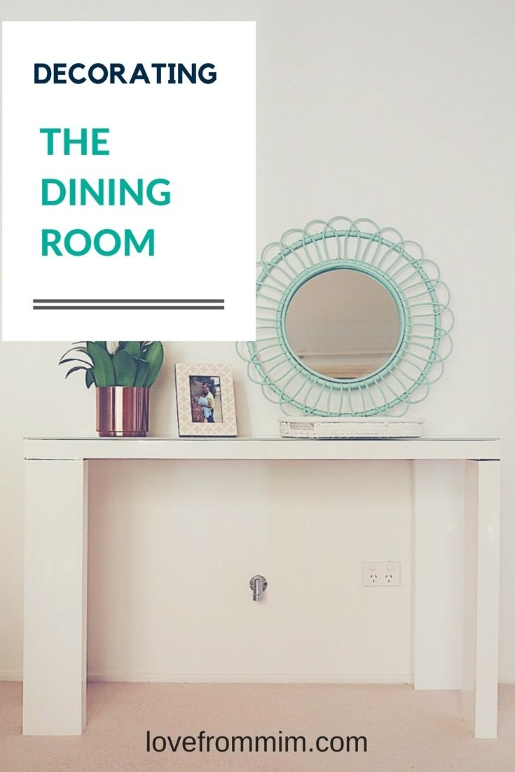 Decorating our new Dining Room with the help of Gumtree